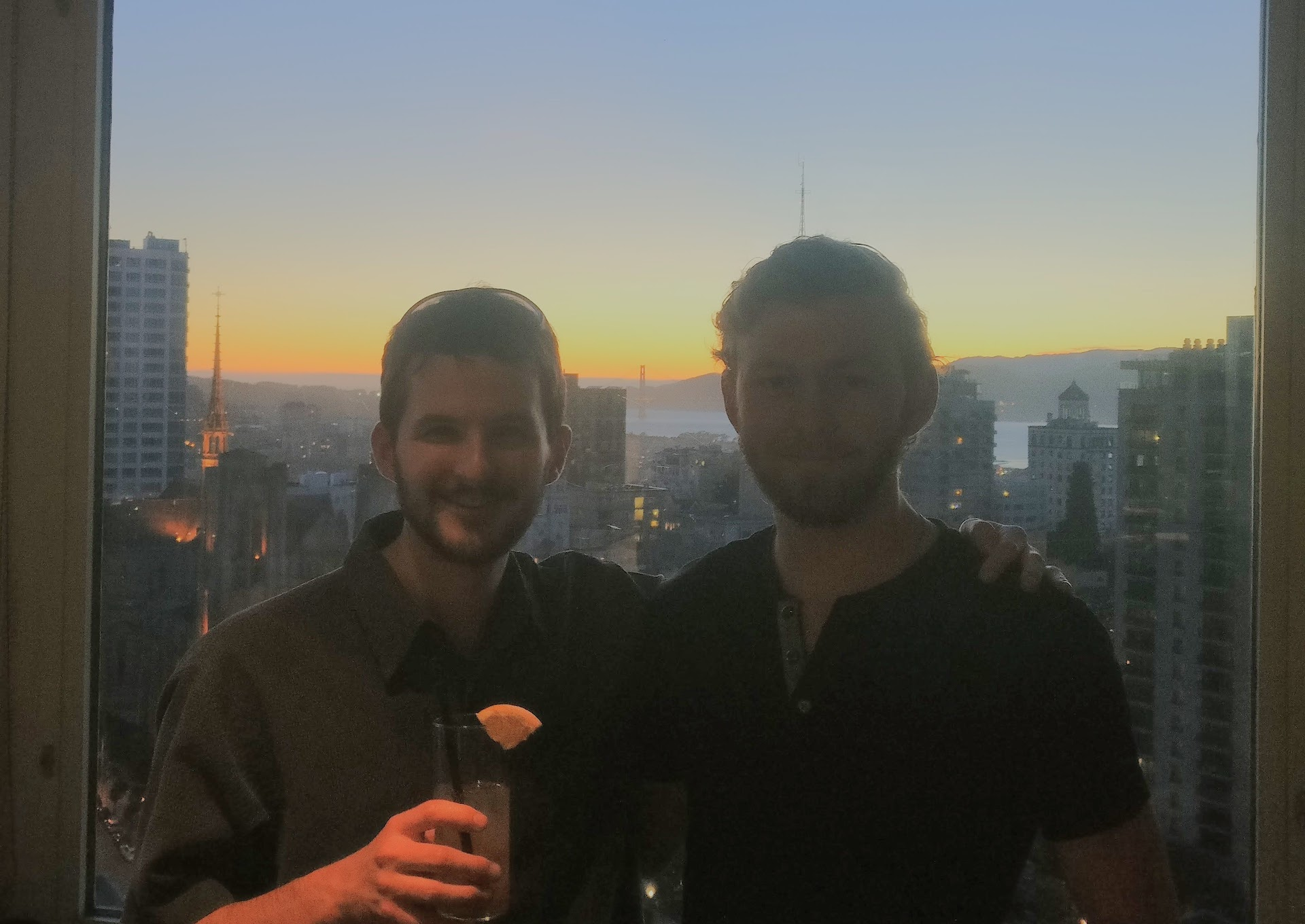 Me and Nate at Top of the Mark for my 100th bar visit in SF